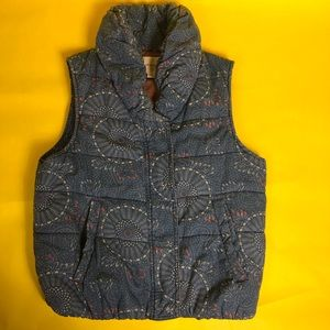 Super cool chambray denim vest women's size M